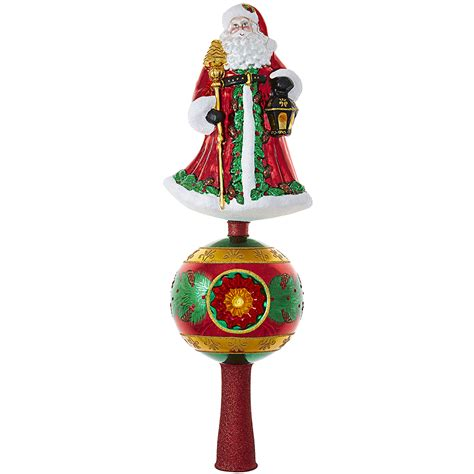 father christmas finial by christopher radko