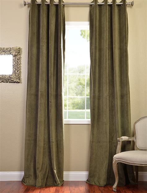 green velvet curtains hunter green grommet velvet blackout curtains drapes ebay