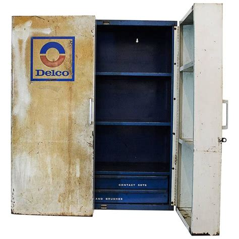 Vintage Parts Cabinet by Vintage Delco Parts Display Cabinet 1960s At 1stdibs