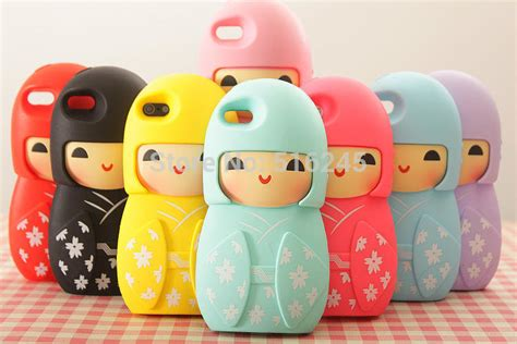 Japan Doll Softcase For Iphone 55s 1 2014 newest 3d japanese kimono doll soft