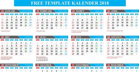 Kalender 2018 Indonesia Jpg Gratis Free Template Kalender 2018 Lengkap
