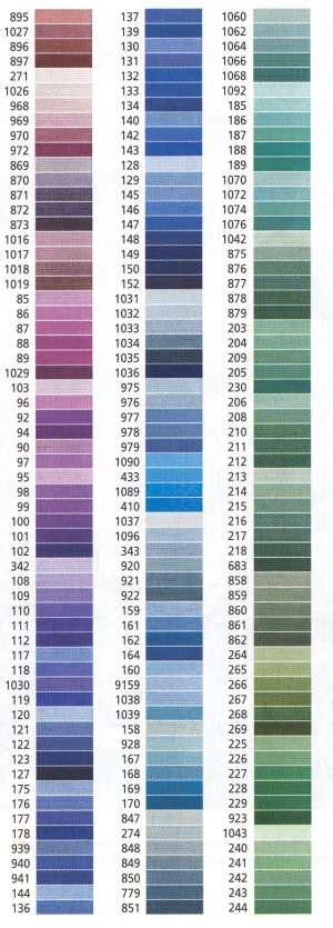 page 2 anchor stranded cotton colours flowers colors color charts and charts