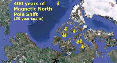 Data center maintains a data set of annual magnetic north pole