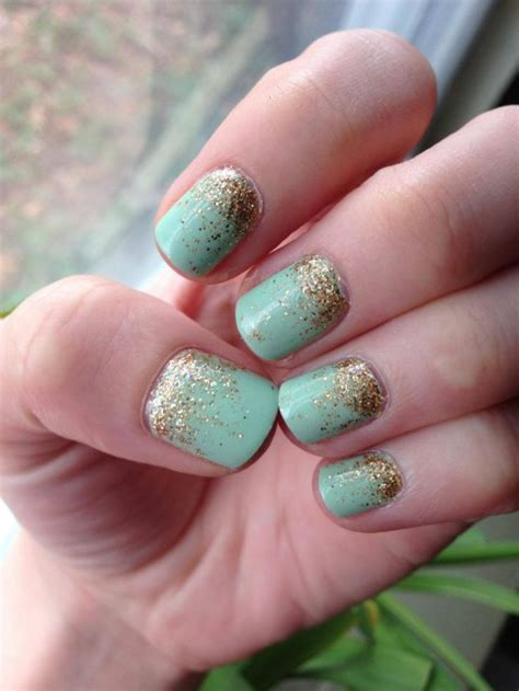 mint and gold gradient glitter nail art tutorial makeup 30 mint wedding color ideas for the bride to be