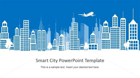 Modern Home Layouts Smart City Background Powerpoint Building Shapes Slidemodel