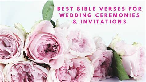 bible verses  wedding ceremonies wedding