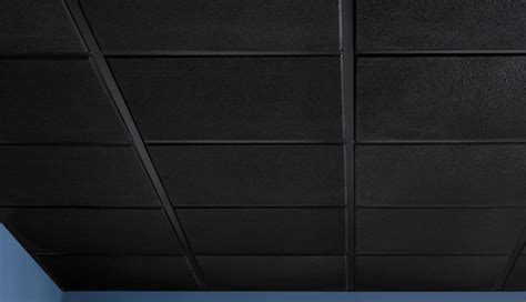 Grey Ceiling Tiles by Stucco Teg 2 X 2 Revealed Edge Black Box Of 12