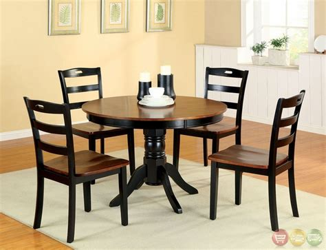 Johnstown Antique Oak And Black Casual Dining Set With Casual Dining Table Sets