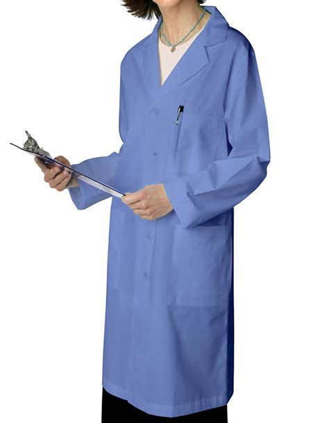 Ceil Blue Lab Coat by Adar Unisex 39 Inch Ceil Blue Pocket Unisex
