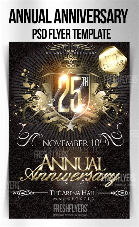 church flyer templates free download anniversary psd