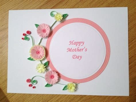 Lemon Handmade Cards - handmade quilled mothers day card with pink and lemon