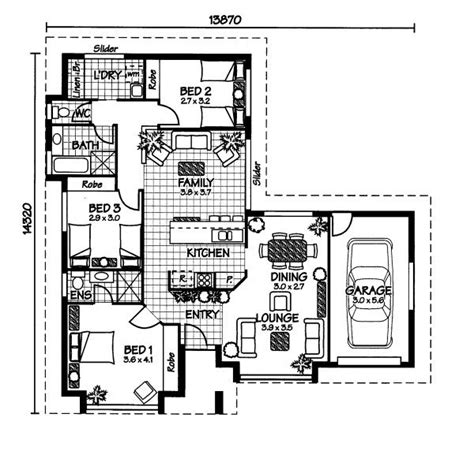 australian home plans floor plans the heron 171 australian house plans