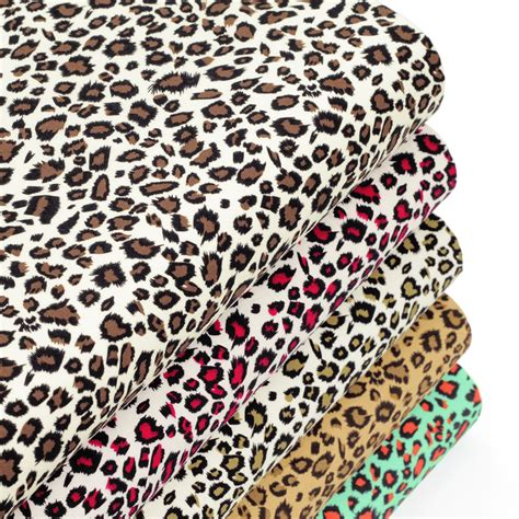 Animal Print Quilting Fabric by Cotton Fabric Fq Leopard Skin Print Animal Zoo