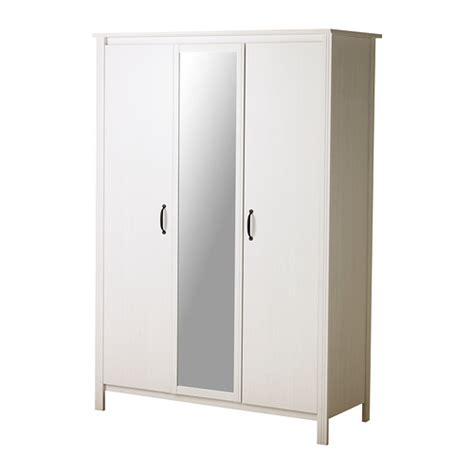 ikea wardrobe brusali wardrobe with 3 doors white ikea