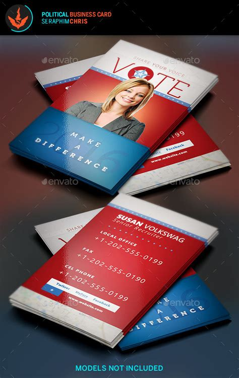 political caign business card templates vote political business card template by seraphimchris