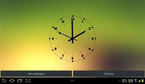 live clock themes for android live wallpaper of clock free android live wallpaper