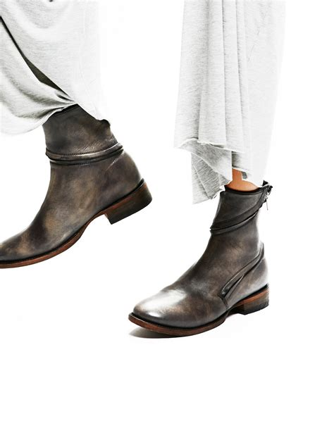 essential zipper ankle boot at free clothing boutique