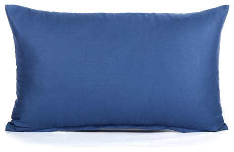 Pillows Blue by Solid Blue Lumbar Pillow Cover 12 Quot X20 Quot