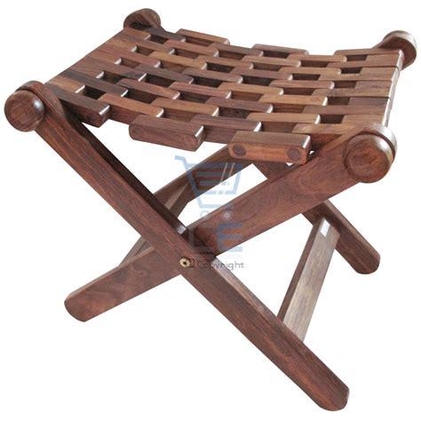 wooden folding stool chair wooden folding stool made mesh indian sheesham wood