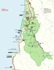 redwoods national park map