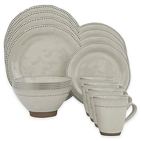 bed bath and beyond dish sets sango cyprus 16 piece dinnerware set in white bed bath