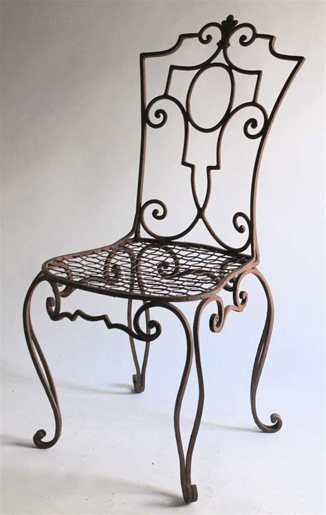 Wrought Iron Furniture by Jean Charles Moreux Painted Wrought Iron Chairs Set Of 6