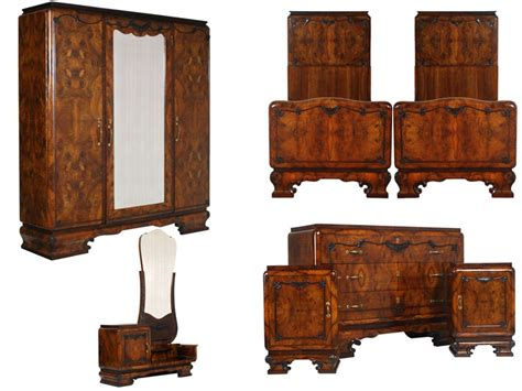 art deco bedroom set antique art deco furniture set 1930s italian bedroom