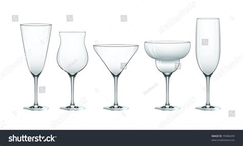 cocktail glass set cocktail glass set eps10 stock vector 79486039