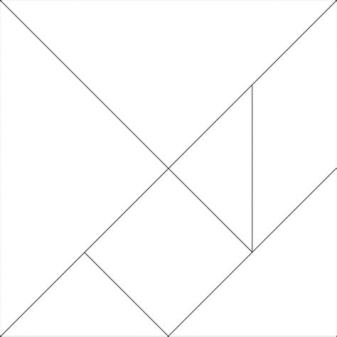 tangram pattern white with solid lines clipart etc