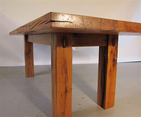 Reclaimed Oak Dining Table Handmade Reclaimed Oak Barnwood Dining Table By Metz Woodworks Custommade