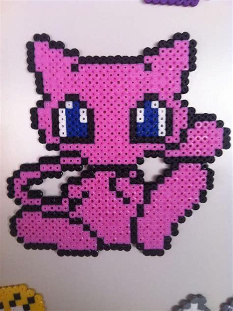 perler mew mew hama perler pixel design pattern