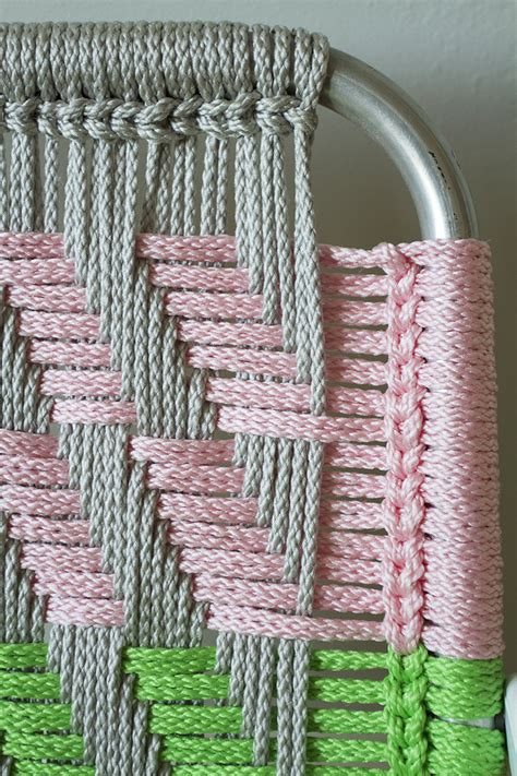 Macrame Pictures - woven macram 233 chair tutorial