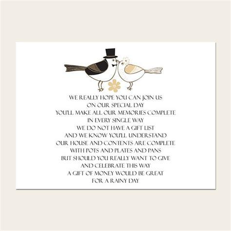 Groom Gift Card - gift poem cards bride groom love birds
