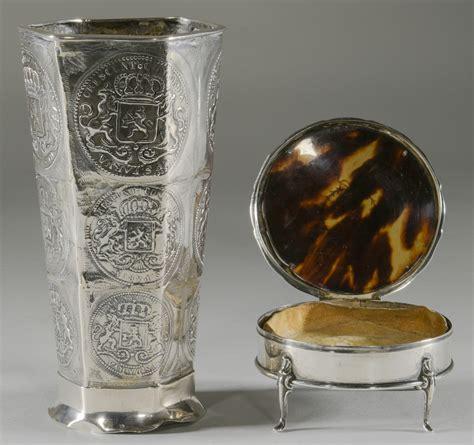 silver vase inc lot 898 10 silver items inc vase
