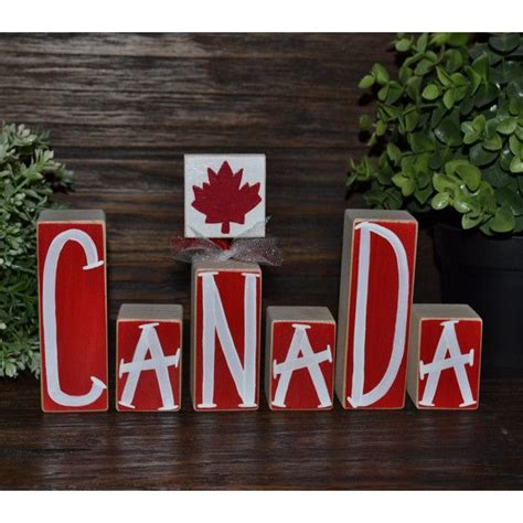 canada decor patriotic decoration canadian block set