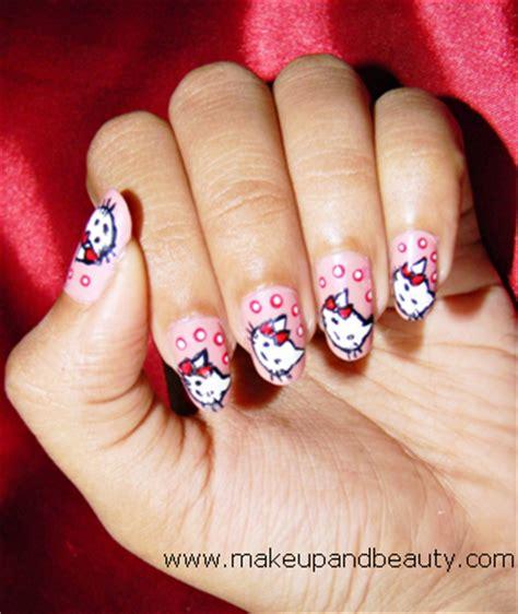 tutorial nail art hello kitty hello kitty nail art tutorial
