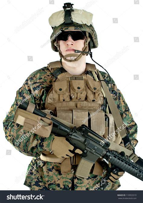 Shoo Marine us marine marpat protective stock photo