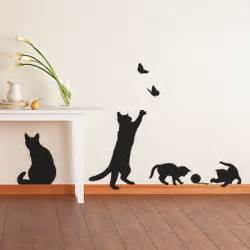contemporary cat and kitten wall decoration art vinyl decal cute cats decals