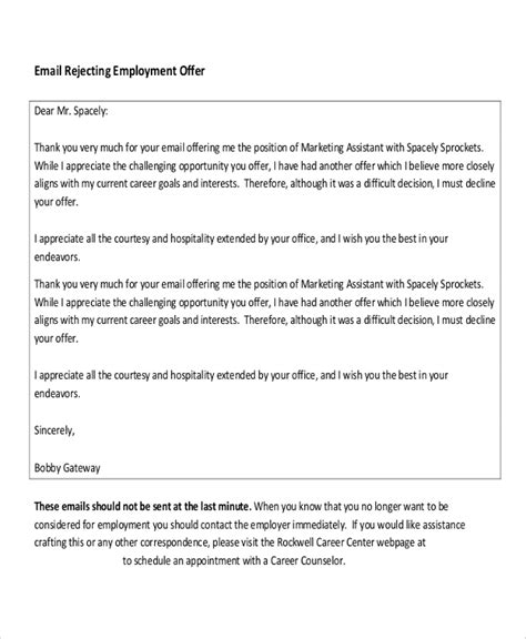 employment letter sample  examples  word