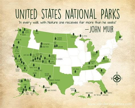 united states map with national parks 17 best ideas about united states map on map