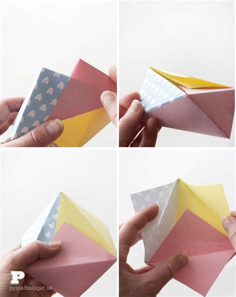 Easy Origami Bowl - easy origami bowls pysselbolaget easy crafts