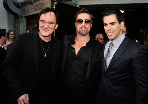 quentin tarantino eli roth film eli roth in premiere of weinstein co quot inglourious