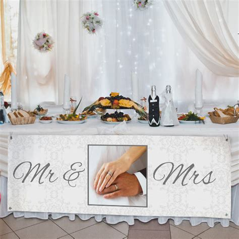 Wedding Banner For Reception vinyl banner with photos custom banners winkflash