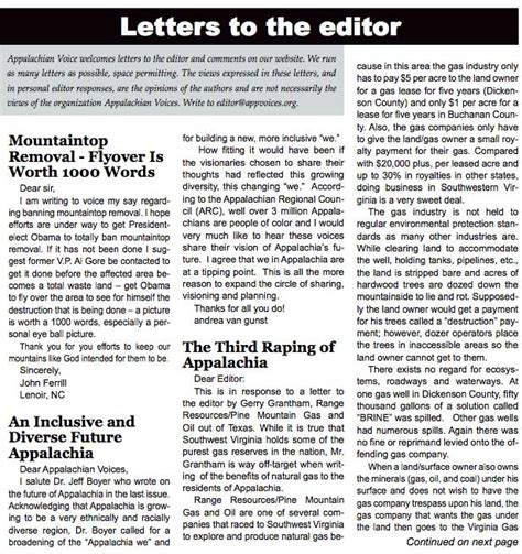 Complaint Letter Newspaper Editor Letters To The Editor Lte S Wise Energy For Virginia