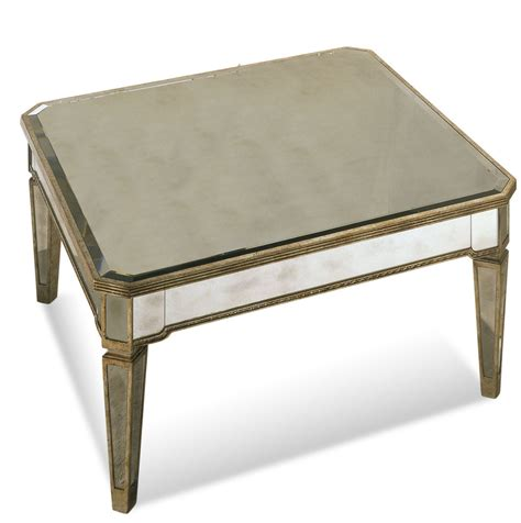 antique silver coffee table borghese mirrored square cocktail table antique mirror