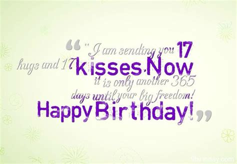 Quotes For 17th Birthday Sweet 17 Birthday Wishes And Messages With Images