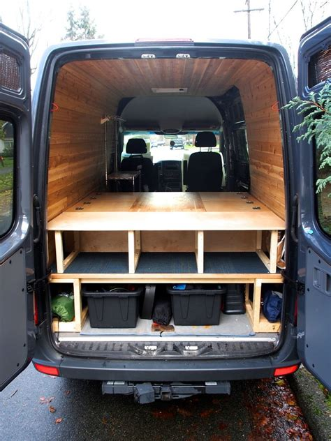 van with bed bed table and benches for cer van all in one bed