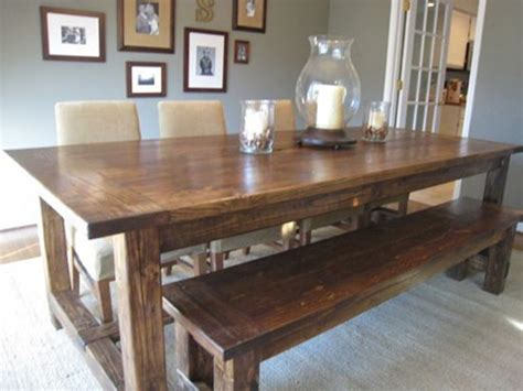 bench seating dining room rustic dining room tables home design ideas