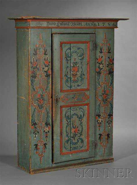 swedish painted furniture swedish painted pine armoire with plain projecting crest