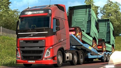 trailer volvo truck simulator 2 the volvo fh picking up a